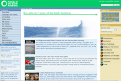 Friends of the Earth website and intranet